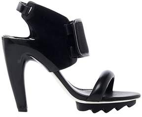 United Nude Women's Black Leather Sandals.