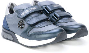 Roberto Cavalli teen touch fastening sneakers