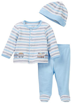 Little Me Train Stripe Cardigan Set (Baby Boys)