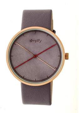 Simplify The 4100 SIM4105 Rose Gold and Lavender Leather Analog Watch