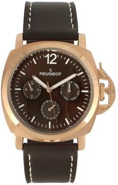 Peugeot Men's Leather Sport Watch - 2056RBR