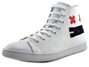 Marc Jacobs Zip Face High Top Men Us 12 White Fashion Sneakers.