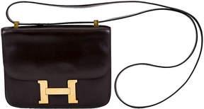 One Kings Lane Vintage Hermès Brown Box Constance Crossbody Bag