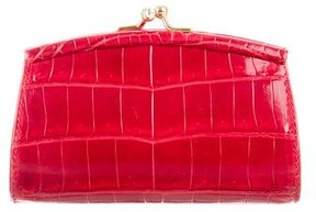 Judith Leiber Micro Crocodile Bag