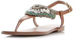 Head Over Heels *Head Over Heels by Dune Tan 'Leia' Flat Sandals