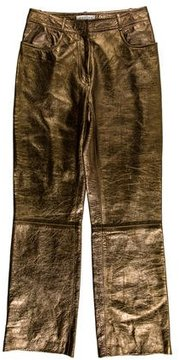 Celine Metallic Leather Pants