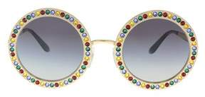 Dolce & Gabbana Dg2170b 02/8g Gold Round Sunglasses.