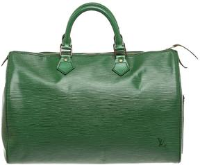 Louis Vuitton Speedy leather satchel - GREEN - STYLE