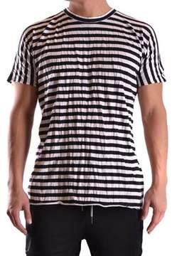Barbara I Gongini Men's White/black Cotton T-shirt.
