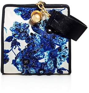 Tory Burch Darcy Embellished Clutch - BLUE FLORAL/GOLD - STYLE