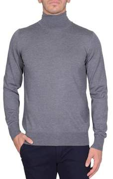 Fay Men's Grey Cotton Sweater.