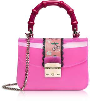 Furla Candy Esotica Fuchsia Top Handle Mini Crossbody Bag