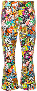 Moschino patch print trousers