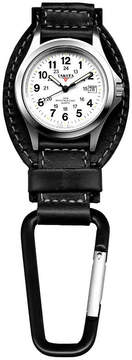 Dakota Men's Black Leather Hanger Field Clip Watch 35526