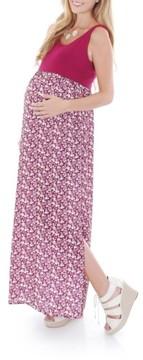 Everly Grey Women's 'Maisie' Maternity Maxi Dress