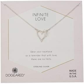 Dogeared Infinite Love, Heart with Bloom-Love Charm Necklace Necklace