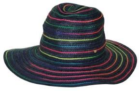 BCBGeneration Women's Rainbow Swirl Adjustable Size Hat (Atlantic Blue, OS)