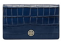 Tory Burch Parker Embossed Medium Slim Wallet - TORY NAVY CROC - STYLE