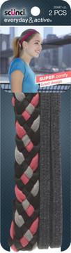 Scunci Head Wrap Mixed Coral/Gray
