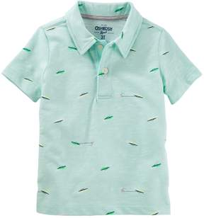 Osh Kosh Oshkosh Bgosh Toddler Boy Printed Graphic Polo