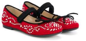 Ermanno Scervino studded ballerina shoes