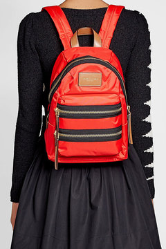 Marc Jacobs Fabric Backpack - RED - STYLE