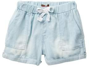 7 For All Mankind Light Weight Denim Shorts (Big Girls)