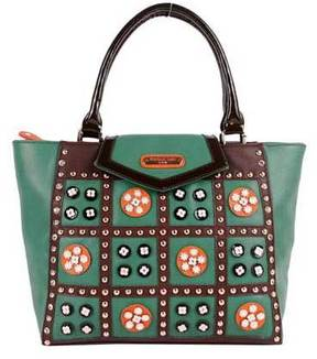 Women's Nicole Lee Daysha Flowery Embellish Tote Bag