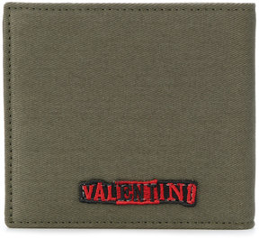 Valentino word patch wallet