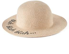 Lauren Conrad Women's Blah Blah Blah Floppy Hat