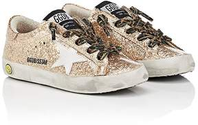 Golden Goose Deluxe Brand Kids' Superstar Laminated Glitter Sneakers