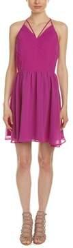 Adelyn Rae Pleated Halter A-line Dress.