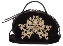 Borbonese Women's Black Viscose Handbag.
