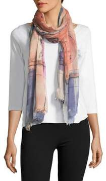 Vince Camuto Printed Fringed Scarf