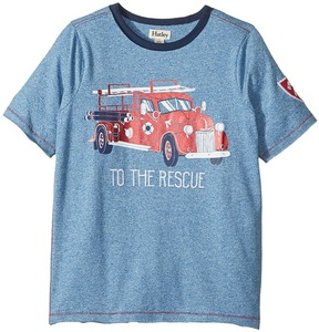 Hatley To The Rescue Firetruck Short Sleeve Tee (Toddler/Little Kids/Big Kids)