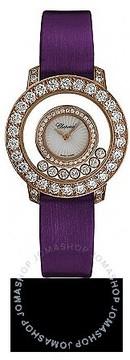Chopard Happy Diamond Mother of Pearl Diamond Bezel 18k Rose Gold Ladies Watch