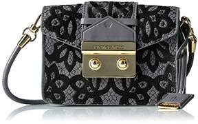 Juicy Couture Lace Printed Crossbody Bag with Envelop Closure