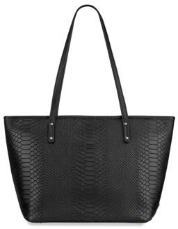 GiGi New York Taylor Mini Python-Embossed Leather Tote