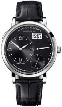 A. Lange & Söhne A. Lange and Sohne Grand Lange 1 117.028 18K White Gold Black Dial 40.9mm Mens Watch