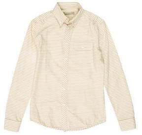 Balenciaga Seersucker Striped Shirt