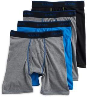 Hanes Boys 4-20 X-Temp 4-Pack Boxer Briefs