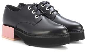 Alexander McQueen Leather platform Derby shoes