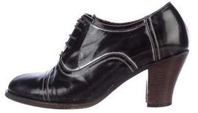 Dries Van Noten Patent Leather Lace-Up Oxfords
