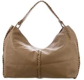 Bottega Veneta Leather Intrecciato-Trimmed Large Tote
