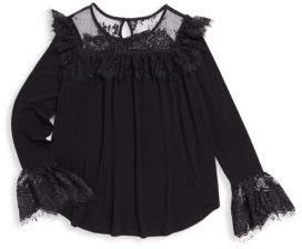 Ella Moss Girl's Jacey Loose Top with Lace Design