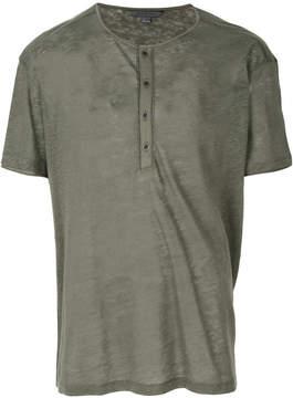 John Varvatos button placket T-shirt