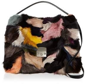 AQUA Fox Fur Satchel - 100% Exclusive