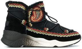 Ash embroidered boots
