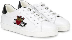 Dolce & Gabbana Kids royal embellished sneakers