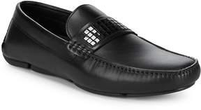 Versace Men's Embellished Leather Loafers